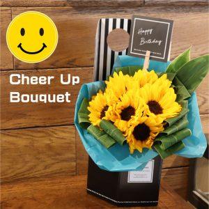 父の日 ギフトプレゼント ひまわり 花 大ヒット アレンジ 黒ねこ ボックス おすすめ 喜ばれる 笑顔 選べる楽しさ かわいさ満点 即日発送「父の日限定カードあり!」